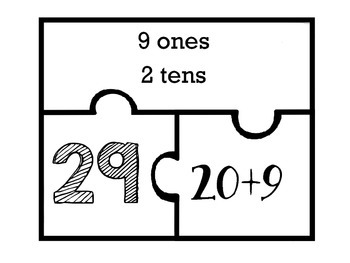 Two Digit Place Value Number Puzzles