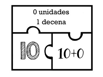 Two Digit Place Value Number Puzzles in Spanish