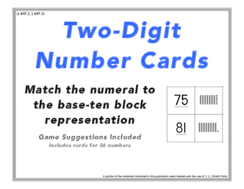 Two-Digit Place Value Numeral and Base-Ten Block Match and