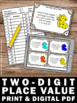 1st Grade Place Value Games with Task Cards { 2 DIGIT } SCOOT