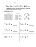 Two-Digit Plus One-Digit Addition Summative Assessment