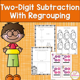 Two-Digit Subtraction With Regrouping Worksheets