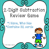 2 Digit Subtraction I Have Who Has Subtraction Game with without Regroup 2.NBT.5