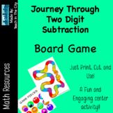 Two Digit Subtraction - Board Game - Center Activity