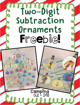 Two-Digit Subtraction Christmas Ornaments