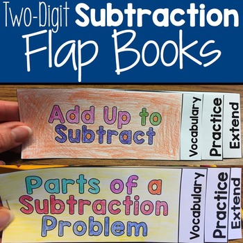 Two-Digit Subtraction Flap Books for Interactive Notebooks
