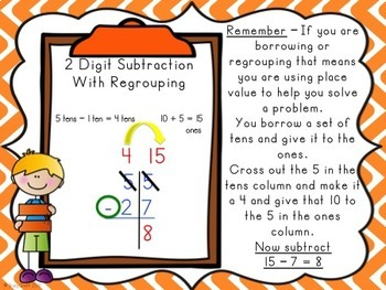 Two Digit Subtraction Lessons - With and Without Regrouping all in ONE!