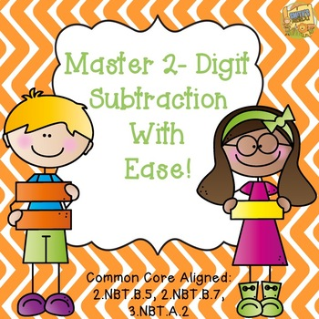 Two Digit Subtraction Lessons - With and Without Regroupin