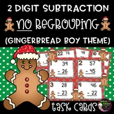 2-Digit Subtraction NO regrouping (Gingerbread boy theme)