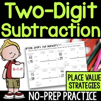 Two-Digit Subtraction No-Prep Printable Practice