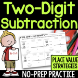 Two-Digit Subtraction No-Prep Printable Practice