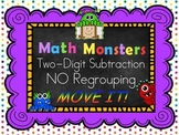 Two-Digit Subtraction NO Regrouping MOVE IT! Math Monsters