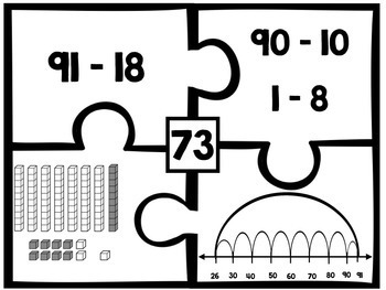 Two-Digit Subtraction Number Puzzles