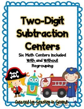 Two Digit Subtraction Centers