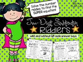 Two-Digit Subtraction Riddlers