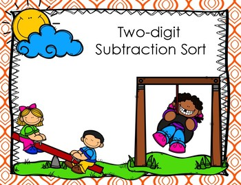 Two Digit Subtraction Sort