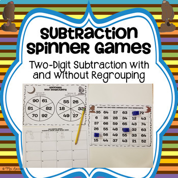 Two Digit Subtraction Spinner Game