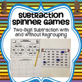 Two Digit Subtraction Spinner Games