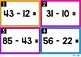Two Digit Subtraction | Task Cards: