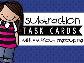 Two-Digit Subtraction Task Cards {BUNDLE}