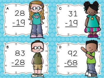 Two-Digit Subtraction Task Cards {With Regrouping}