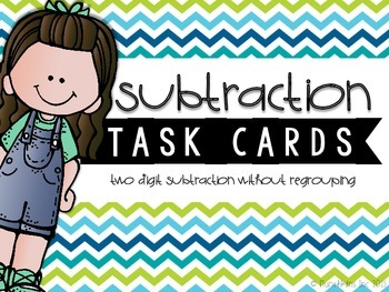 Two-Digit Subtraction Task Cards {Without Regrouping}