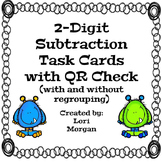 Two-Digit Subtraction Task Cards with QR Check
