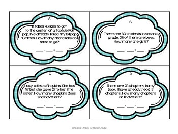 Two-Digit Subtraction Task Cards with QR Codes