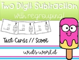 Two Digit Subtraction Task Cards with Regrouping