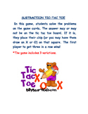Two Digit Subtraction Tic Tac Toe