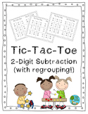 Two-Digit Subtraction Tic-Tac-Toe (with Regrouping)