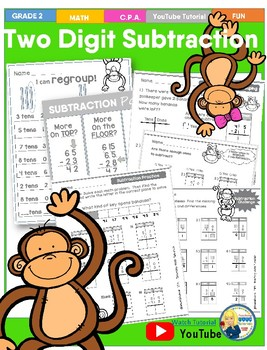 Two Digit Subtraction Tutorial Worksheets