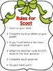 Two Digit Subtraction WITHOUT Regrouping Scoot:  Santa Themed