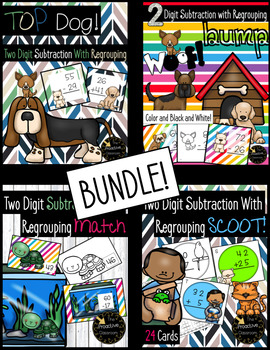 Two Digit Subtraction With Regrouping BUNDLE