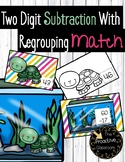 Two Digit Subtraction With Regrouping Match Cards