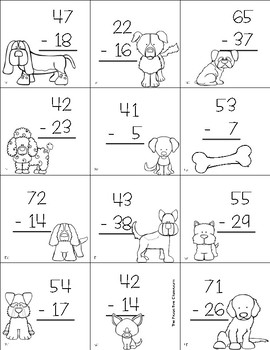 Two Digit Subtraction With Regrouping Top Dog Game