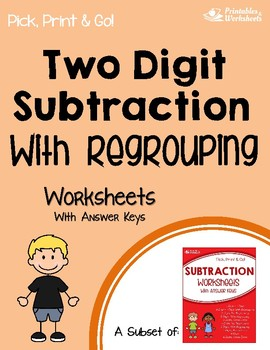 Two Digit Subtraction With Regrouping Worksheets With Answer Keys