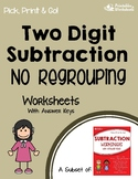 Subtracting 2 Digit Numbers Without Regrouping Worksheets With Answer Keys