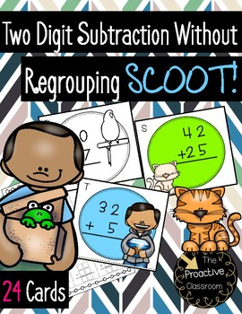 Two Digit Subtraction Without Regrouping Scoot