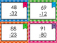 Two Digit Subtraction Without Regrouping Task Cards