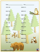 Two Digit Subtraction Worksheets - Animal Themed - Horizontal