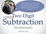 Two Digit Subtraction Worksheets - Vertical (15 pages)