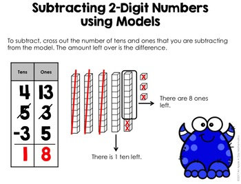 Two-Digit Subtraction using Base-10 Models