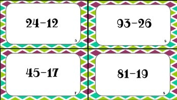 Two-Digit Subtraction w/ Regrouping Scoot