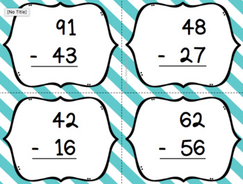 Two Digit Subtraction with Regrouping Bingo