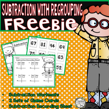 Subtraction with Regrouping Worksheets and Games - Freebie