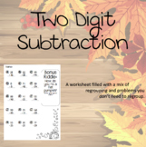 Two Digit Subtraction with regrouping *Fall Edition*
