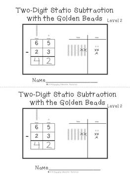 Two-Digit Subtraction with the Montessori Golden Beads Level 2