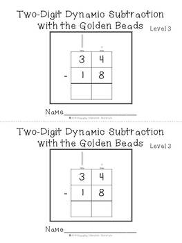Two-Digit Subtraction with the Montessori Golden Beads Level 3