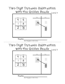 Two-Digit Subtraction with the Montessori Golden Beads Level 4
